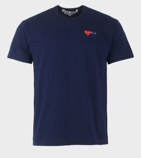 M Double Heart T-shirt Navy