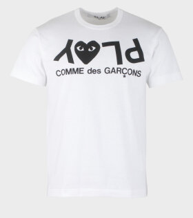 Comme des Garcons PLAY tee white men - AZ-T068-051-1