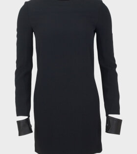 Helmut Lang - Leather Cuff Mini Dress