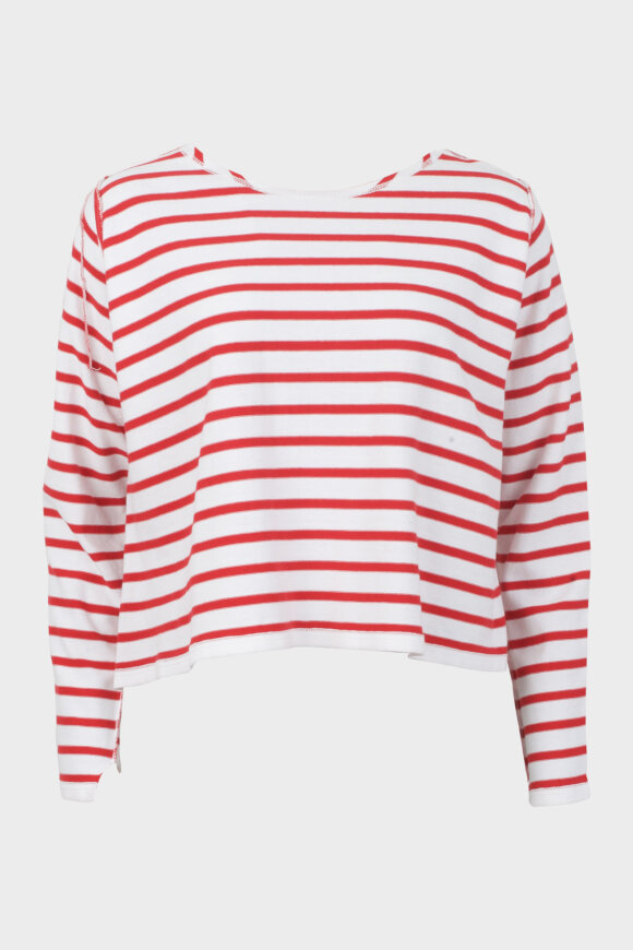 Striped Top White/Red
