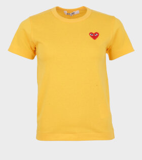 Comme des Garcons PLAY Orange/gul T-shirt - dr. Adams