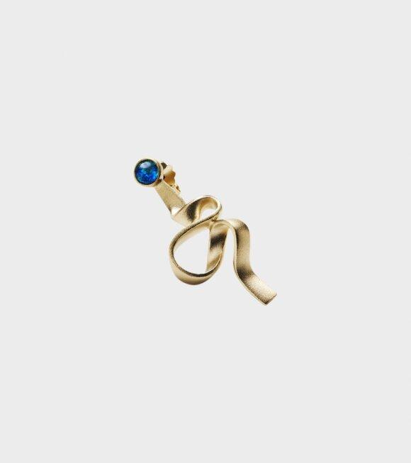 Trine Tuxen - Ribbon Right Earring Gold