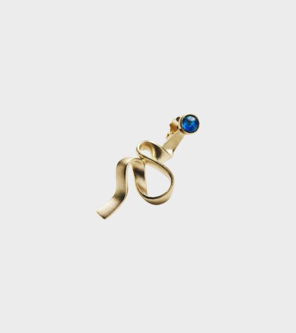 Trine Tuxen - Ribbon Left Earring Gold