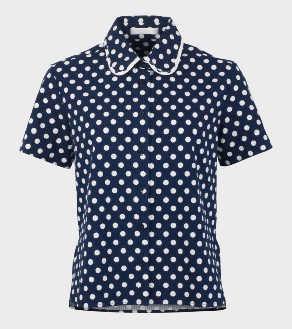 Peter Jensen - Gather Dot Shirt Polka Navy/White