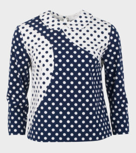 Peter Jensen Panel Top WT Polka Dot White/Navy - dr. Adams