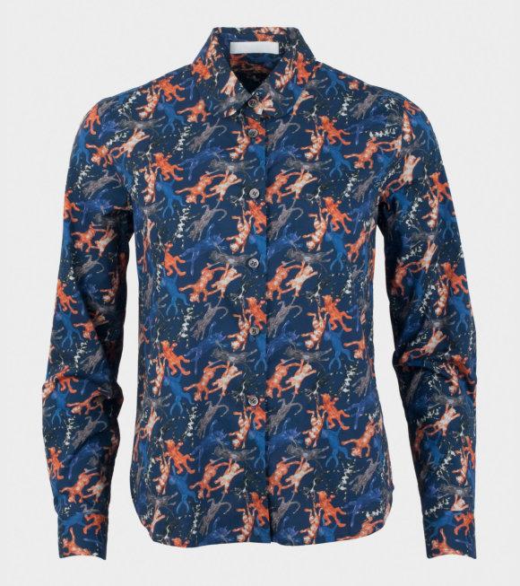 Peter Jensen - Lugano Cat Print Classic Shirt