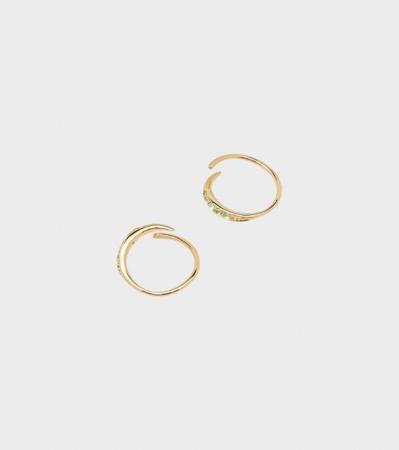 Tom Wood - Mini Ear Loop Green Gold