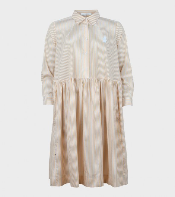 Peter Jensen - Classic Smock Shirt Dress Yellow/White