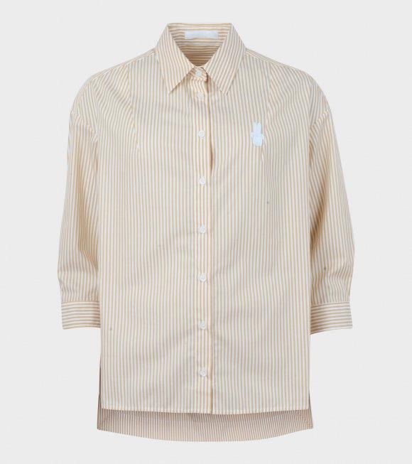 Peter Jensen - Drop Shoulder Shirt Yellow/White