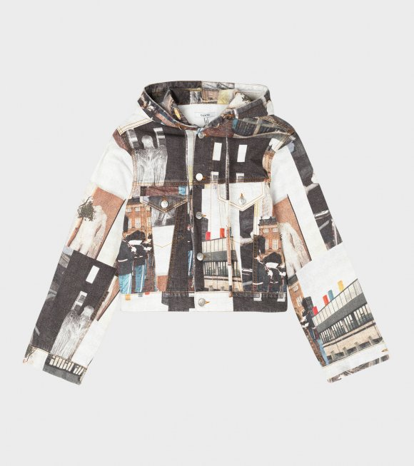 Ganni - Denim Hooded Jacket Multicolor