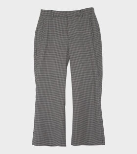 High Trouser Beige Check