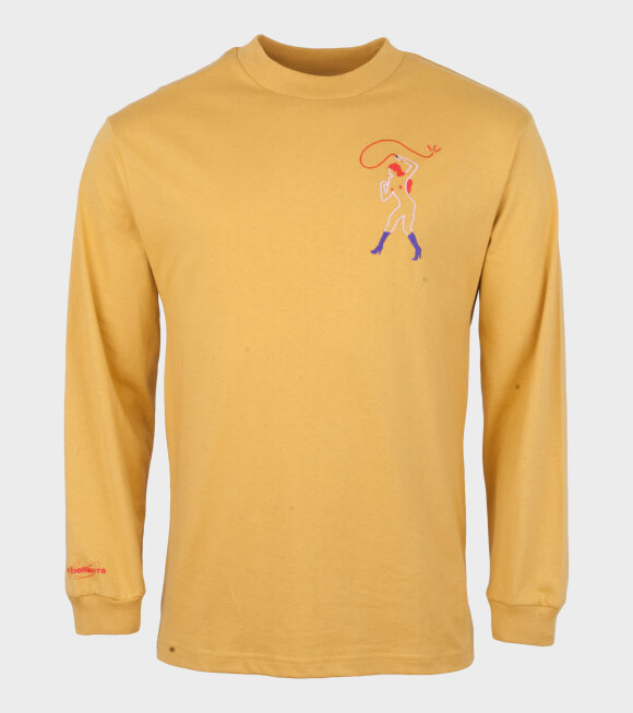 Carne Bollente - Face Down Ass Up L/S Tee Yellow