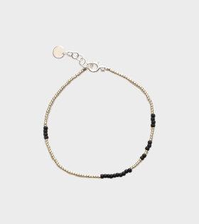 Asym Bracelet Silver+Black
