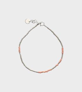 Asym Bracelet Silver+Soft Rose