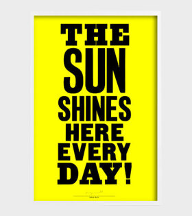 Anthony Burrill ''The sun shines here every day'' plakat - dr. Adams