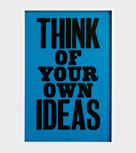 Anthony Burrill plakat Think of your own ideas - dr. Adams