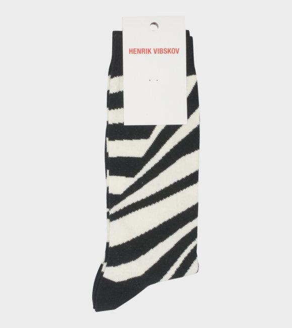 Henrik Vibskov - Ray Socks Black/White