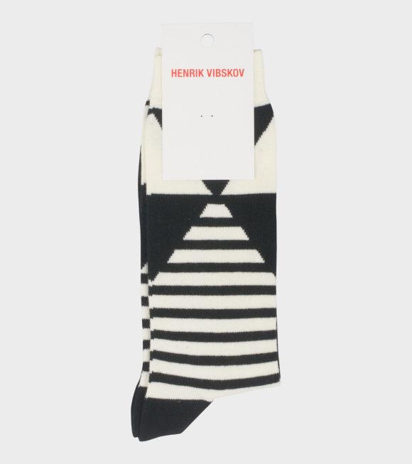 Henrik Vibskov - Harmony Socks Black/White