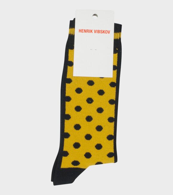 Henrik Vibskov - Twix Socks Yellow/Black