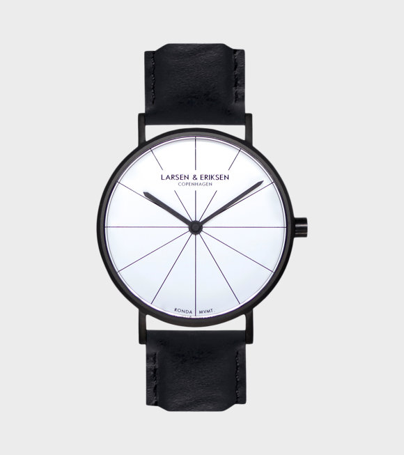 Larsen & Eriksen - Black/White/Black Watch 37mm