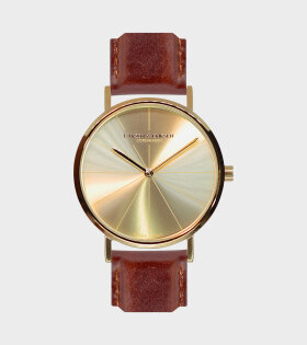 Gold/Gold/Brown watch 37mm