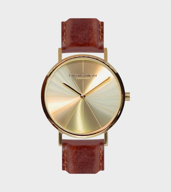 Larsen & Eriksen - Gold/Gold/Brown Watch 37mm