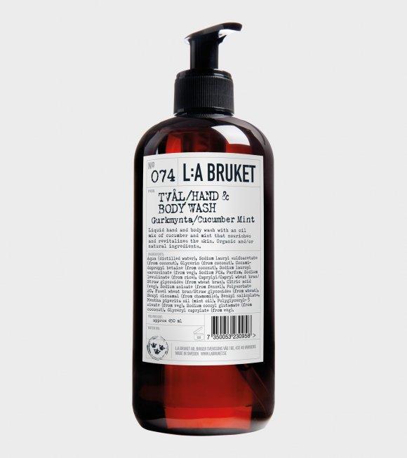 L:A Bruket - 074 Soap Gurkmynta/Cucumber Mint 450ml