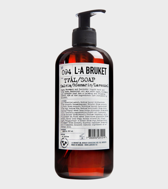 L:A Bruket - 094 Soap Salvia/Rosmarin/Lavendel 450ml