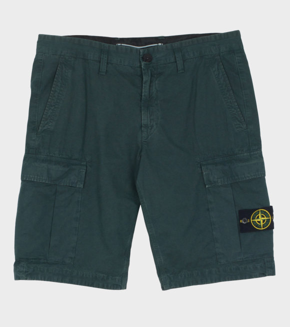 Stone Island - Shorts w. Patch Green