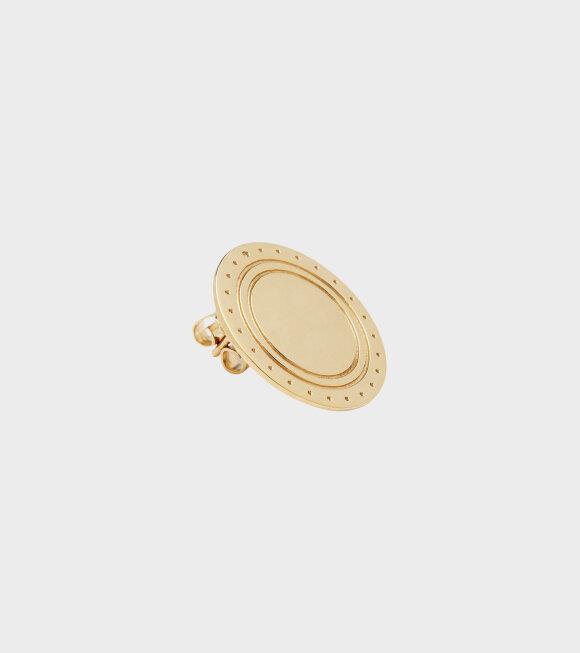 Trine Tuxen - Logo Earring Gold