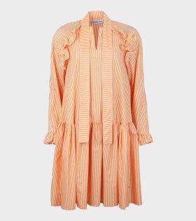 Sofie Sol Studio Orange Stripe Short Standard Dress - dr. Adams