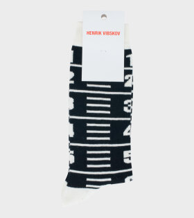Measuretape Socks Black
