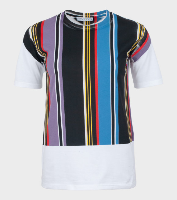 JW Anderson - Printed Stripe T-shirt Amethyst