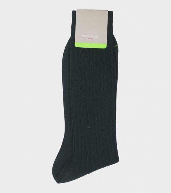 Men Sock Plain 240 Needle Army