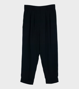 Crop Trousers Black