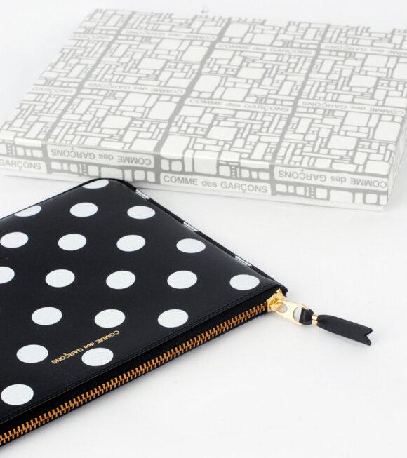 Comme des Garcons Wallet - Dots Clutch Black/White