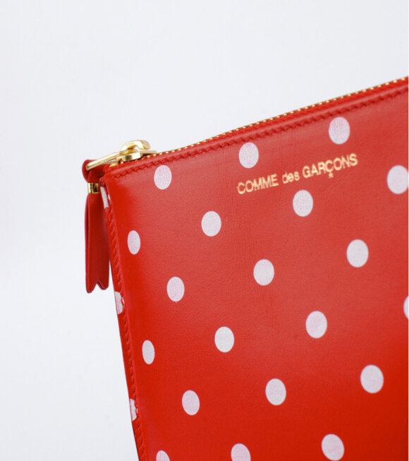 Comme des Garcons Wallet - Dots Wallet Red/White