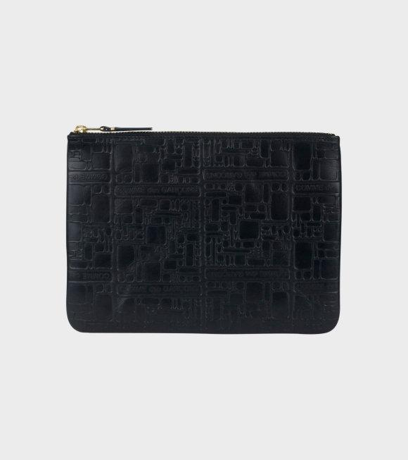 Comme des Garcons Wallet - Logotype Clutch Black