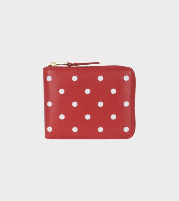 Comme des Garcons Wallet - Plain Dots Wallet Red/White
