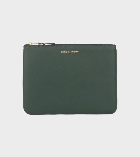 Comme des Garcons Wallet - Classic Clutch Bottle Green