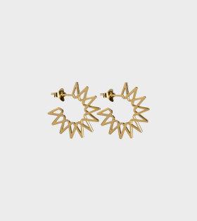 Jane Kønig - Small Sun Earrings Gold