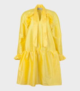 Short Standard Dress Yellow Taffeta