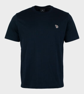 Mens Reg Fit T-shirt Zebra Navy