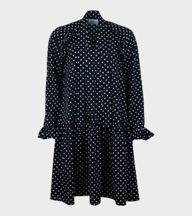 Short Standard Dress Black/White Dots
