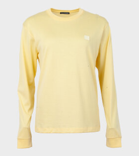 Elwood Face L/S T-shirt Pale Yellow