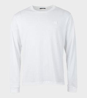 Elwood Face L/S T-shirt Optic White