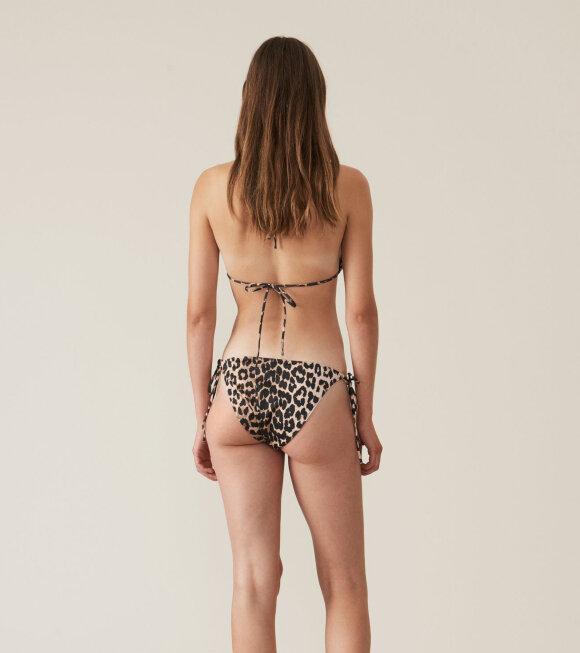 Ganni - Rosedale Bikini Leopard