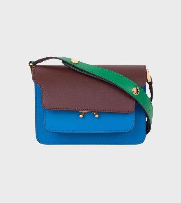 Marni - Mini Trunk Bag Brown/Blue/Green
