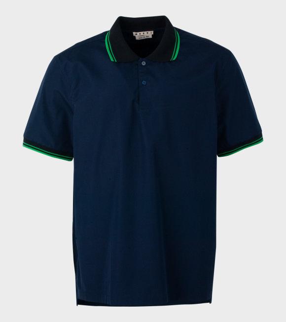 Marni - Shirt Polo Navy/Green