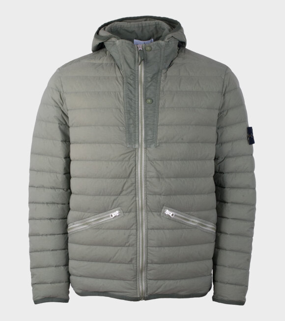 Stone Island - Lown Woven Down Chambers Army